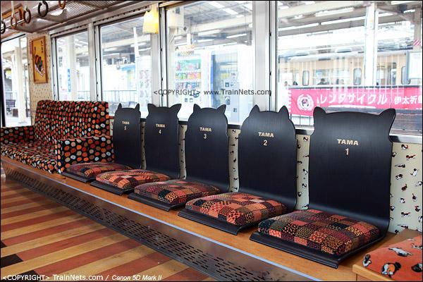"""""""阿玉电车"""",座椅的椅背突出的猫头造型。(IMG-4103-120130)"""