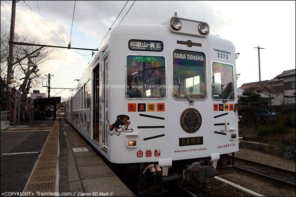 """贵志站。""""阿玉电车""""正面照。(IMG-4268-120130)"""
