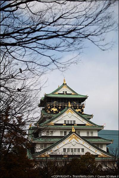 大阪城公园主体建筑,天守阁。(IMG-4922-120131)