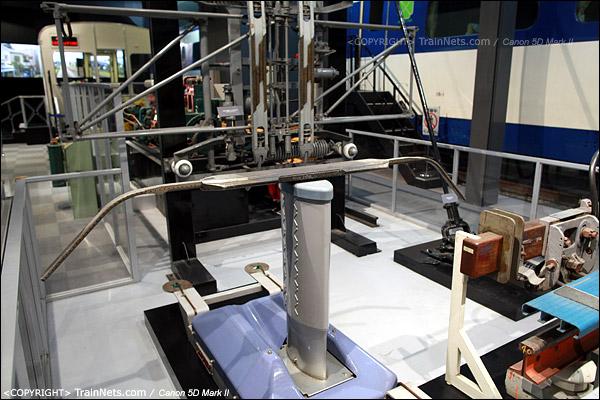 第五展厅。500系的翼型受电弓。(IMG-5221-120131)