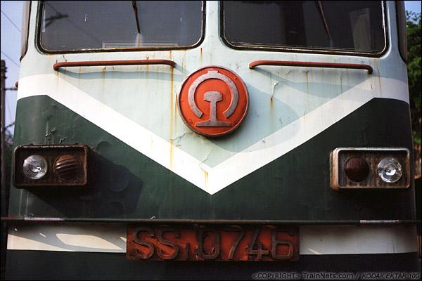 2013年9月7日。韶关机务段。SS1八字型的正脸。(E0617)