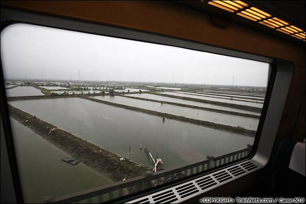 2013年12月17日。D2316次,列车经过一片水域。(IMG-4913-131217)