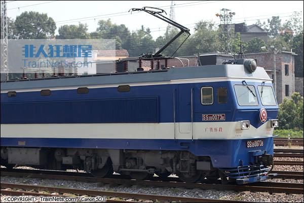 2013年10月5日。SS3B行驶在湖南省沪昆线。(图/火车仔/IMG-4083-131005)