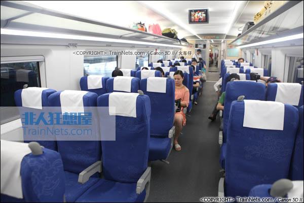 2014年4月21日。CRH380D。二等座车厢。(IMG-4472-140421/火车仔)