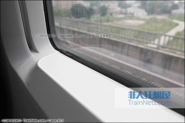 2014年4月21日。CRH380D,车窗小平台。(IMG-4535-140421/火车仔)