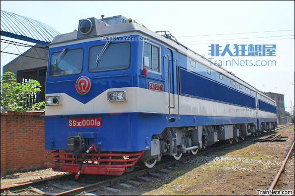 SS3C型电力机车。B端机车。(图/Stan)