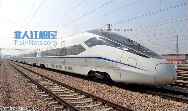 CRH380D-6602在广州动车段。(图片:清风亭)