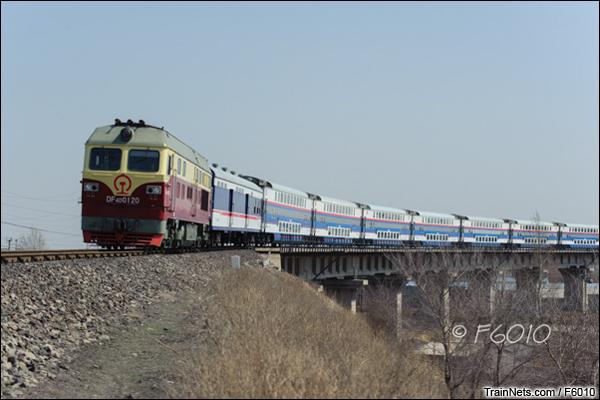 2014年4月10日。长春北,第一次踏上长白线的T309次,沈阳-齐齐哈尔。