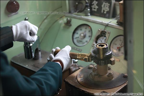 2012年2月1日。日本京阪本线,最老的2000系电车驾驶台。(IMG-5767-120201)