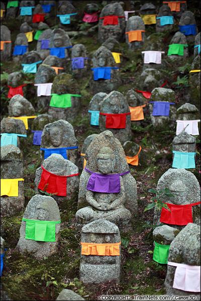 2012年2月1日。日本京都,清水寺里供奉的石佛像。(IMG-5923-120201)