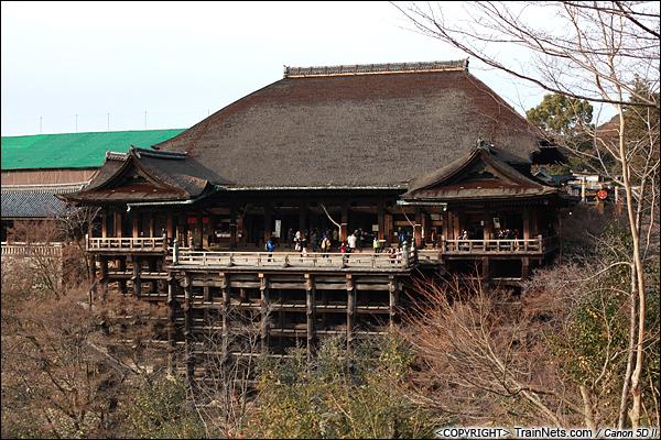 2012年2月1日。日本京都,清水寺主殿。(IMG-6017-120201)