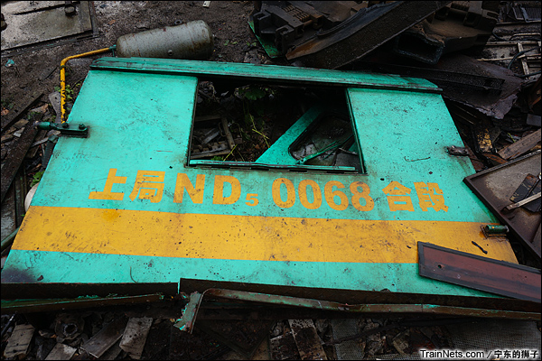 2014年6月。南京东拆解线,ND5驾驶室侧墙,上局合段ND5-0068。