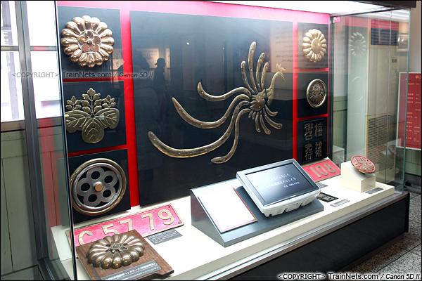 2012年2月2日。日本京都梅小路蒸汽机车博物馆。日本皇室机车的标志。(IMG-6695-120202)