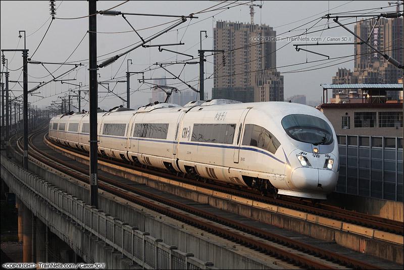 2014年7月6日。广州芳村。 由广铁CRH3C担当的G73次郑州东-深圳北,前往广州南站。(IMG-1796-140706)