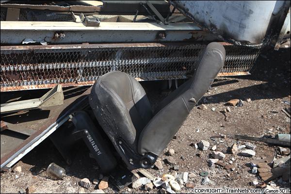 2014年8月31日。韶关机务段。 被拆下来的司机座椅。(IMG-9477-140831)