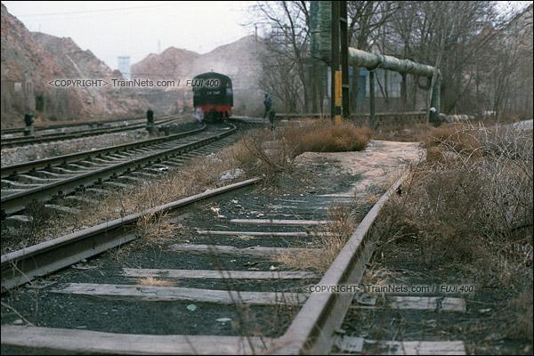2015年1月。甘肃省白银矿区铁路。深部铜矿站曾经拥有许多支线,但早已拆除。(F0720)