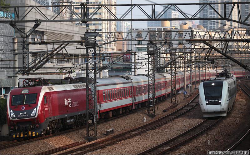 2014年10月3日。深圳。 南局南段HXD1D牵引K116次,深圳-九江。
