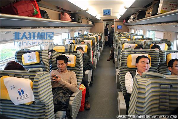 2013年12月28日。运行于厦深铁路的南昌局CRH2A统型车。一等车。(IMG-6981-131228)