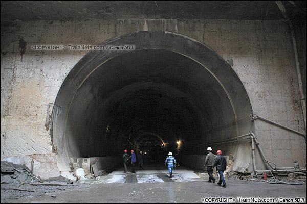 2014年12月29日。深圳福田站北侧的益田路隧道洞口。(IMG-9552-141229)