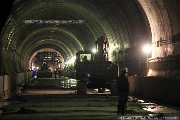 2014年12月29日。深圳福田站北侧的益田路隧道。(IMG-9605-141229)