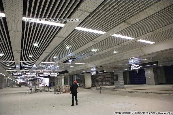 2014年12月29日。深圳福田站。地下一层,交通换乘层。(IMG-9679-141229)