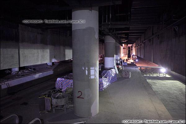 2014年12月29日。深圳福田站。地下三层,月台。(IMG-9786-141229)