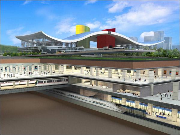 福田站结构全貌。