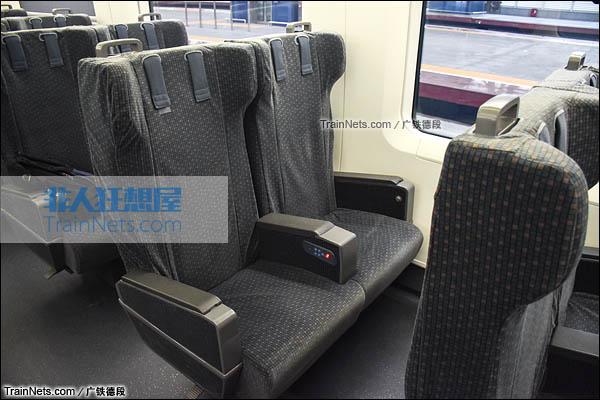 2016年2月。广珠城际铁路。新一代CRH1A型动车组(Zefiro)。一等座。(图/广铁德段)