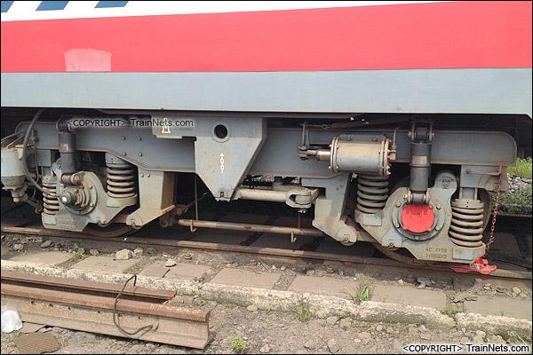 2015年4月。武汉桥工段的GC220型金鹰轨道车。(IMG-0495-150417)