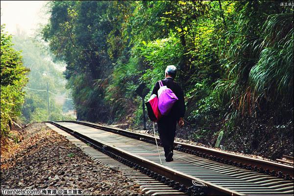 2014年10月26日。金千线。这里的行车密度很低,行人可以大摇大摆地走在道心上。(图/温兰旅客)