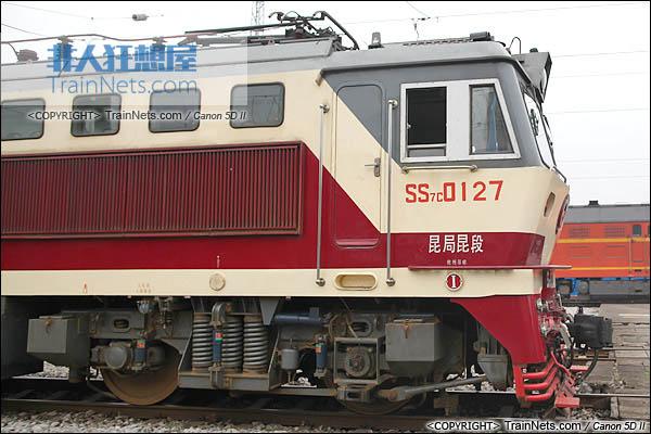 2013年5月。广西南宁站。配属昆局昆段的SS7C型电力机车。(IMG-6348-130506)