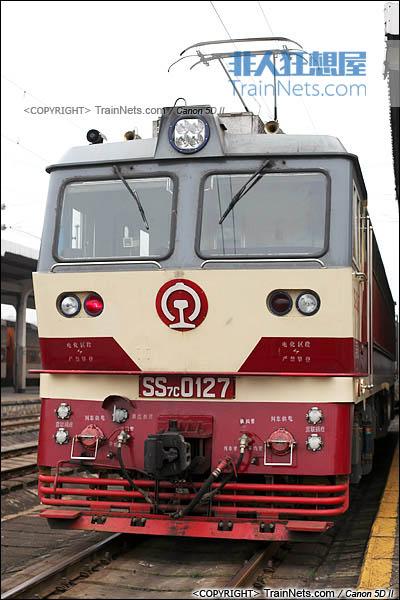 2013年5月。广西南宁站。配属昆局昆段的SS7C型电力机车。(IMG-6370-130506)