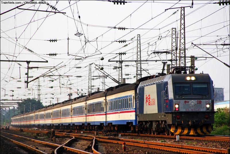 2015年5月10日。广州大朗。HXD3C牵引金温铁道K325次通过。