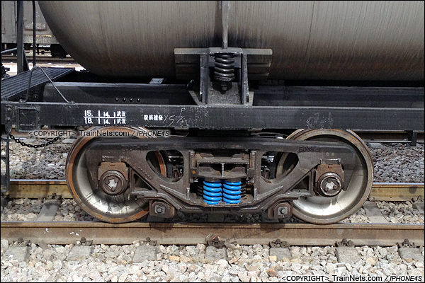 2014年2月11日。GY95SK型罐车。转K2型转向架。(IMG-0067-140211/火车仔)