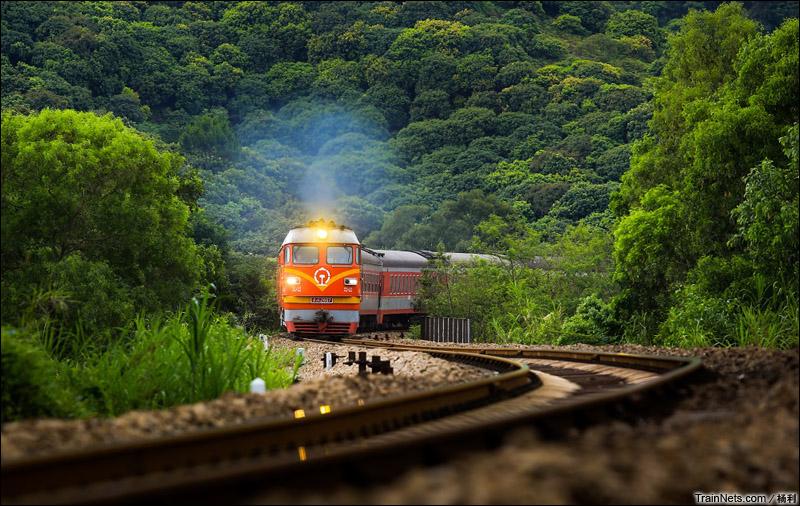 2015年5月9日。广东深圳。广铁广段DF4BK-2667牵引K836次,深圳西-重庆北行驶在平南线上。(图/杨利)