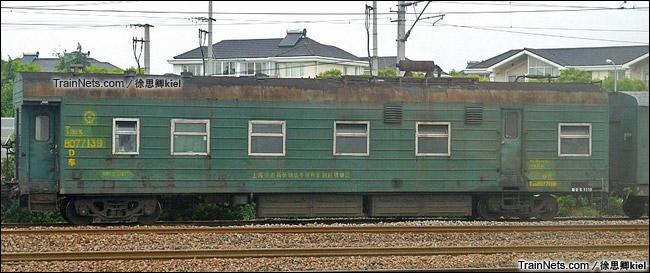 配属上海铁路局的T11BK型特种货车。(图/徐思卿kiel)