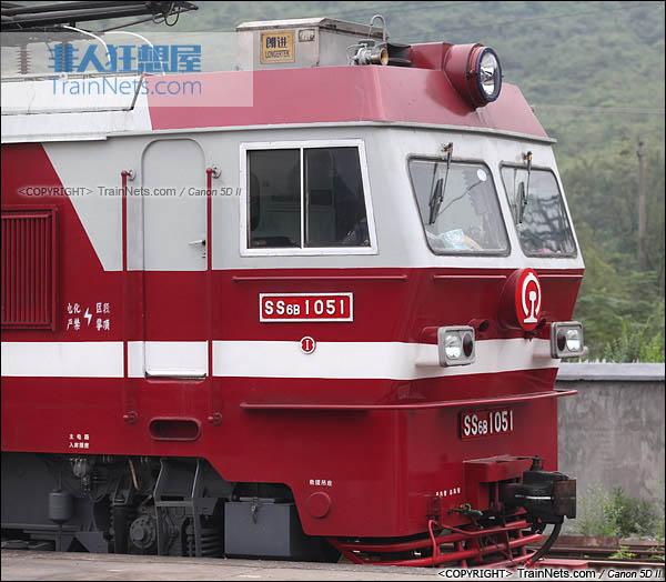 2013年10月。湖南怀化。配属广铁株段的SS6B型电力机车。(图/火车仔/IMG-3493-131003)