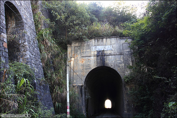 廖家湾隧道。长108公尺,直道,坡道1%,造价89421.73圆国币。(图/阿准)