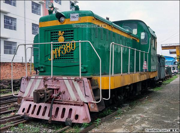 2015年6月。广西南宁。JMY380B型内燃机车。(图/戴文炜)