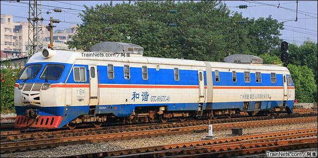 广州。GTC-60型钢轨探伤车。(图/阿准)