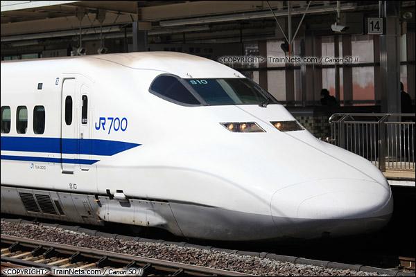 2015年3月。日本。JR东海道新干线,小田原站。JR700系新干线列车。(IMG-5803-150331)