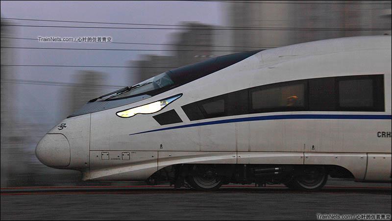 2015年10月17日。胶济铁路、胶济客运专线。青岛北-城阳区间, CRH380CL型动车组执行G200次,青岛-北京南。(图/心叶的仿若青空)