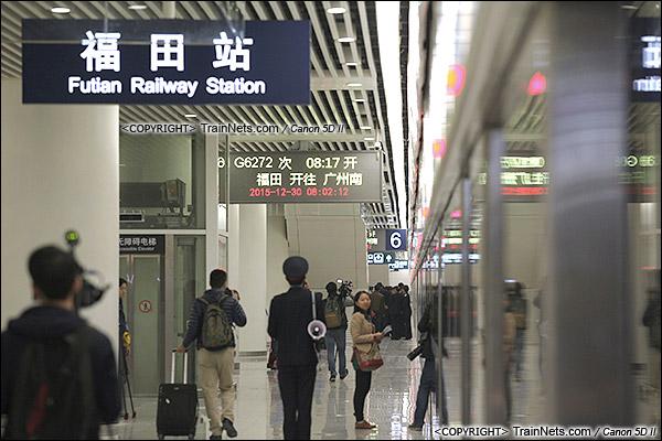 2015年12月30日。广深港高铁福田站。B3层站台层。(IMG-3159-151230)