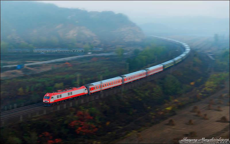 2015年10月。辽宁大连。深秋,K684次,北京-大连。(图/Shenyang-梦之心旅)