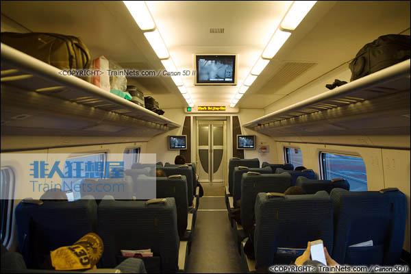 2015年11月28日。CRH5A型动车组。一等座。(图/火车仔/IMG-3181-151128)