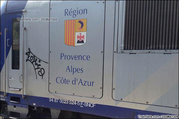 法国Z 23500型动车组。侧面编号。(图/333的47320)