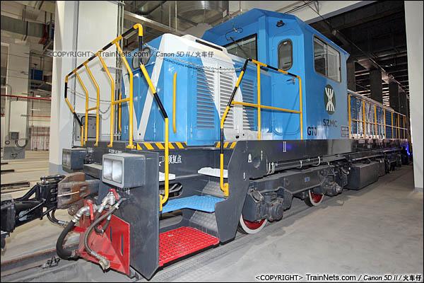 2016年3月28日。深圳地铁七号线,深云车辆段。GCY520型内燃机车。(图/IMG-9234-160328/火车仔)