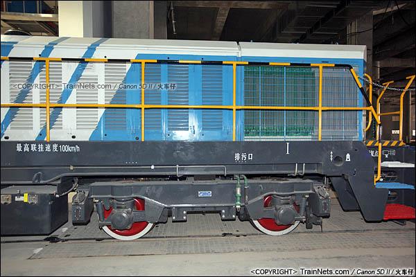 2016年3月28日。深圳地铁七号线,深云车辆段。GCY520型内燃机车。(图/IMG-9251-160328/火车仔)