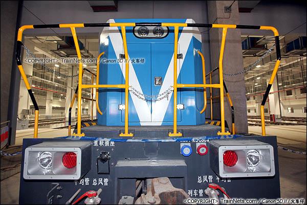 2016年3月28日。深圳地铁七号线,深云车辆段。GCY520型内燃机车。(图/IMG-9257-160328/火车仔)