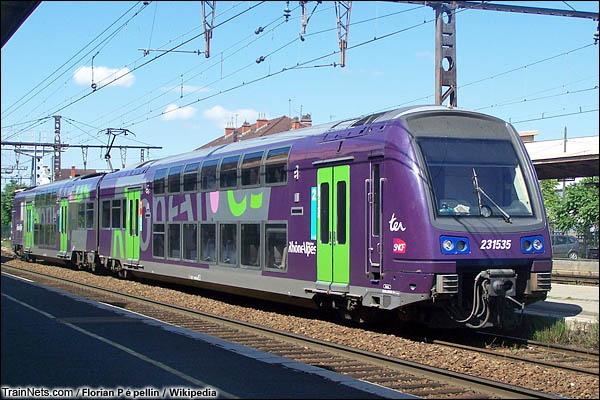 法国Z 23500型动车组。线路图。(图/Florian Pépellin/Wikipedia)